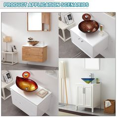 Sanitary Ware China Factory Manufacturer Glass Sink For Bathroom Set