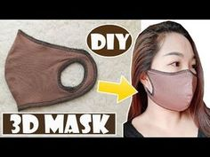 I have made a fabric face mask video tutorial. In this simple face mask sewing video, I . Easy Face Masks, Diy Face Mask, Fashion Mask, Diy Fashion, Mini Hands, Mouth Mask, Fabric Bags, Diy Mask, Mask Making