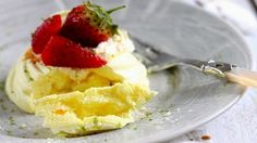 How to make the perfect Vegan Saffron, Strawberry and Lime Meringue Nests by Sanjana Modha on Food Network UK.