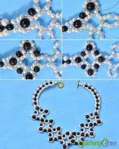 How to Make Delicate Beading Bib Necklace with Pearl and Jade Beads - Pandahall.com