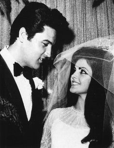 elvis and priscilla wedding | Elvis and Priscilla's Wedding May 1, 1967...we ♥ this! moncheribridals.com