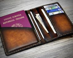 custom passport wallet