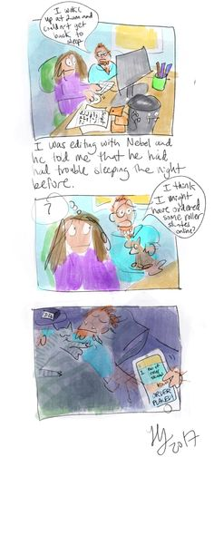 Unusual Late Night Cravings - nebel is not sure if he ordered roller skates or not.  From my comic blog www.thehillsite.com Autobiographical Comics, Late Night Cravings, Trouble Sleeping, Late Nights, Skates, Funny, Blog, Partying Hard, Funny Parenting