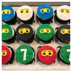 Ninjago Cupcakes #ninjagocupcakes Ninja Cake, Cupcake Cakes, Cupcakes, Lego Cake, Sugar, Cookies, Desserts, Food, Crack Crackers