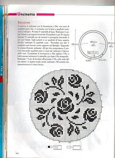 Gallery.ru / Фото #54 - Цветы (схемы) 3 - Olgakam Loom Knitting Patterns, Crochet Patterns, Cross Stitch Flowers, Cross Stitch Patterns, Filet Crochet Charts, Cross Stitch Boards, Red Pattern, Lace Making, Cross Stitching