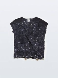 RACHEL ROSE, SILK TEE BLACK PETAL INKBLOT: she's got 16 styles in her shop right now, all are great but this one is my favorite. #rachel_rose #silk #top | http://beautiful-dress-collections.blogspot.com