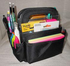 Organizer Tote For Filofax Day Planner Smash Book Journal Over 200 Pieces Bright Colors MIRANDA