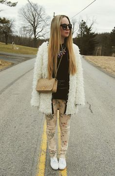 Miss Kl Coat, Lulus Shirt, Chanel Bag, Gypsy Warrior Jeans, Keds Shoes