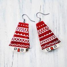 Cercei « Categorii de Produse « Mărgelușa Christmas Ornaments, Holiday Decor, Handmade, Hand Made, Christmas Jewelry, Craft, Christmas Baubles, Christmas Decorations, Handarbeit