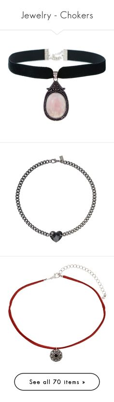 """""""Jewelry - Chokers"""" by layla-saurus ❤ liked on Polyvore featuring jewelry, necklaces, chokers, accessories, pendant choker necklace, choker jewelry, pendant necklaces, rose quartz jewellery, rose quartz necklace and choker"""
