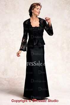 Lace Motif for Taffeta Beautiful Gown, Quality Unique Mother of the Bride Dresses Black Evening Dresses, Formal Dresses, Formal Wear, Ball Dresses, Ball Gowns, Bride Groom Dress, Bride Dresses, Lace Dress With Sleeves, Lace Jacket