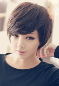 Brazilian Human Short Straight Hair Wig For women Hairstyles For Round Faces, Cute Hairstyles, Straight Hairstyles, Short Straight Hair, Healthy People 2020, Wigs, Short Hair Styles, Hair Cuts, Hair Color