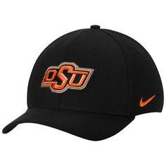 ef6ad81e132 Men s Nike Black Oklahoma State Cowboys Swoosh Performance Flex Hat