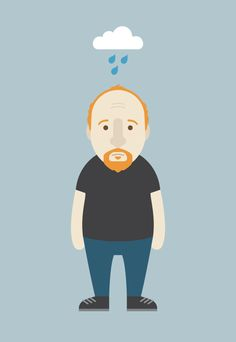 Here is an illustration I made of my favorite ginger, Louis C.K.