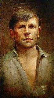 Gerard Reve (14 december 1923 - 8 april 2006) - Portret door Gerrit Breteler, z.j.