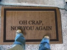 "Personalized Doormats- 2' X 3' - 1/2"" Cocoa Flocked - Write Your Own Unwelcome Mat . $78.00. Electrostatically flocked designs.. Best used in a dry protected entranceway.. 5/8 inch thick. Great for low threashholds.. Superior brush action to get the dirt off your shoes and out of your house.. Manufactured in the USA from natural coir fiber bristles.. Classic coir mats are manufactured in the USA from natural coir (coconut) fiber bristles, which are inserted into a weatherproof ..."