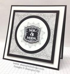 Everything Eleanor, Label Love, Stampin' Up!, Brian King, wedding card by kirsten