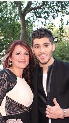 Zayn and his mum at the This Is Us Premiere!