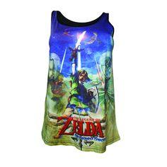 The Legend of Zelda Skyward Sword Female Sublimation Official T-Shirt