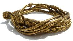 // Braided Brass Bangle