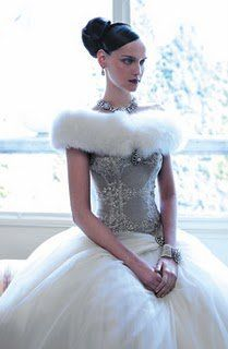 winter wonderland wedding dresses | ... the dress is by atelier aimee a favorite dress designer of ours