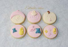 Estrade's cakes: galletas de bebé para un bautizo.