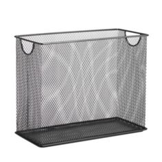 Honey-Can-Do Table Top File Holder, Black. Have you forgotten what the top of your desk looks like? Keep it looking neat and clutter-free with this handy table top file holder. The gray mesh adds a contemporary touch to any office decor.