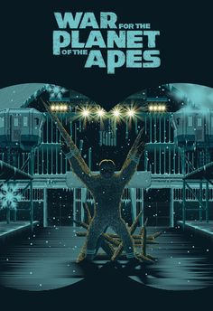 Alternative movie poster commissioned by 20th Century Fox for Matt Reeves' new film, War for the Planet of the Apes.