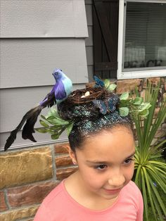 Crazy hair day at school / bird nest