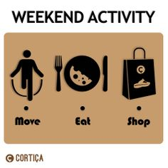 Click LIKE if you want to move, eat and shop this weekend!