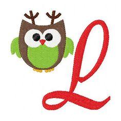 Christmas Owl Machine Embroidery Design