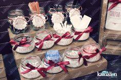 www.kamalion.com.mx - Decoración / Kit de baño / Vino / Marsala / Vintage / Rustic Decor / Wedding / Boda / Bathroom kit / Costurero / detalles.