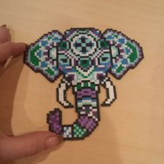 Elephant mini perler beads by kcpopick13