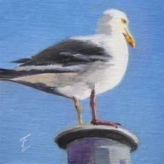 "Daily Paintworks - ""Birds Eye View"" - Original Fine Art for Sale - © Jane Frederick"