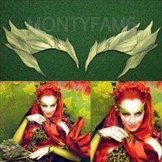 Poison Ivy GREEN leaf EYEBROW Costume Mask Cosplay COmic COn Uma Thurman ELF Mother Earth