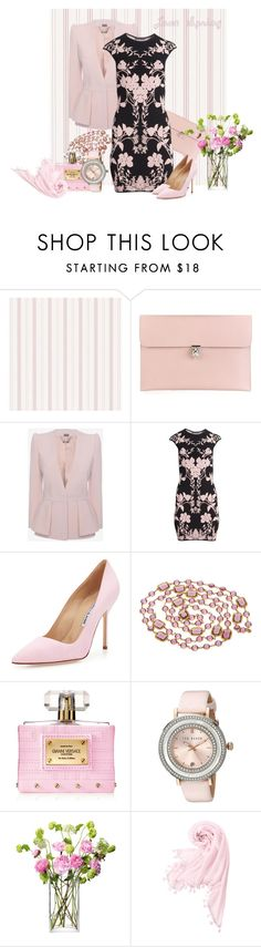 """""""Lone Spring"""" by armband ❤ liked on Polyvore featuring Alexander McQueen, Manolo Blahnik, Chanel, Versace, Ted Baker, LSA International and Uniqlo"""