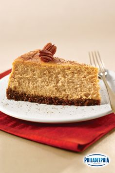 Nothing says fall like a smooth and creamy pumpkin cheesecake. Try our twist on this classic holiday recipe featuring a buttery gingersnap crust. Serve this delicious dessert after a Thanksgiving meal or at your next holiday dinner - it's a fan favorite!