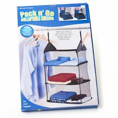 These come in handy on a cruise! Pack N Go Collapsible Shelves #travel #cruise