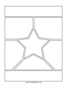 Comic Book Style Page Background With Clear Panels Stock Photo