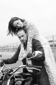 katiemarieweddings: Rime Arodaky The Runaways 2018 Collection - Wedding Mood Board, Wedding Pictures, Wedding Photography Inspiration, Wedding Inspiration, Biker Couple, Motorcycle Couple, Biker Photoshoot, Motorcycle Wedding, Mode Rock
