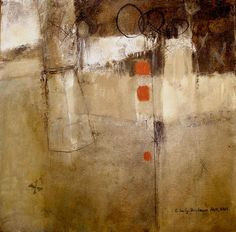 "workman:    dailyartjournal:  Elaine Daily-Birnbaum, ""Two Steps Forward"", mixed media on canvas"
