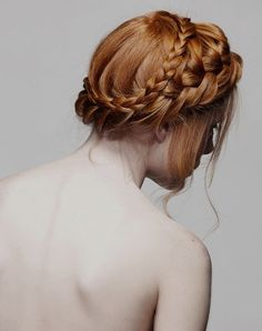 Hair inspiration #gorgeous #braided #updo #hairstyles