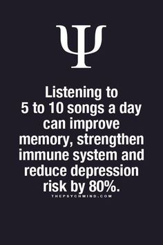 Have you listened to your 5-10 songs today? #musicfacts