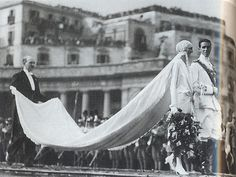 Neapel 1927 wedding of Amedeo of Savoy, Duke of Aosta and Princess Anne of France.