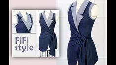 FiFi Style : Asymmetrical danton collar design, waistband