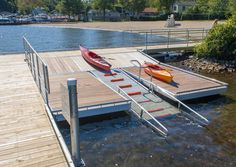 Launching a kayak, paddleboard or other small craft from a seawall or dock can be a challenging activity. Description from thedockdoctors.com. I searched for this on bing.com/images
