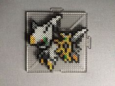 Perlers of the legendary pokemon Arceus from Gen 4 Perlers made using menusprites from Gen 6 as a reference. All Copyrighted Material Belongs To Their Respected Owners Perler Bead Pokemon Patterns, Hama Beads Pokemon, Perler Bead Disney, Perler Bead Art, Pokemon Sprites, Pix Art, Peler Beads, Melting Beads, Paper Crafts Origami