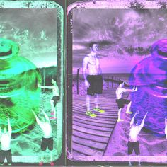 Genie Glitched Digital Collage