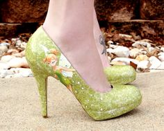 Tinkerbell Heels by SweetDreamShoes on Etsy, $90.00