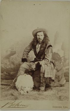 Captain Jack Crawford 1880. Photo by Bohm, Denver Colorado